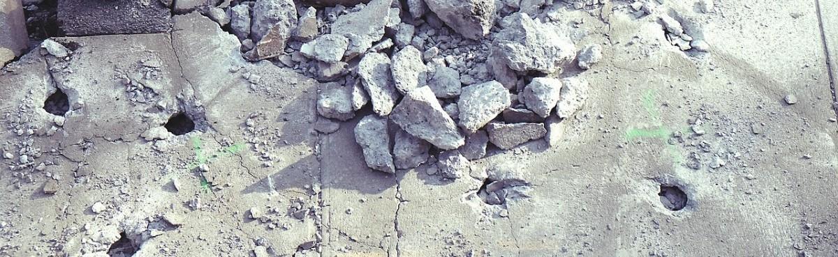 Czyszczenie kruszonym betonem