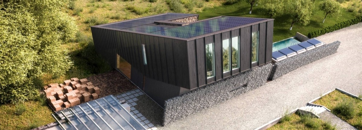 Solarny dom. Ładny i inteligentny