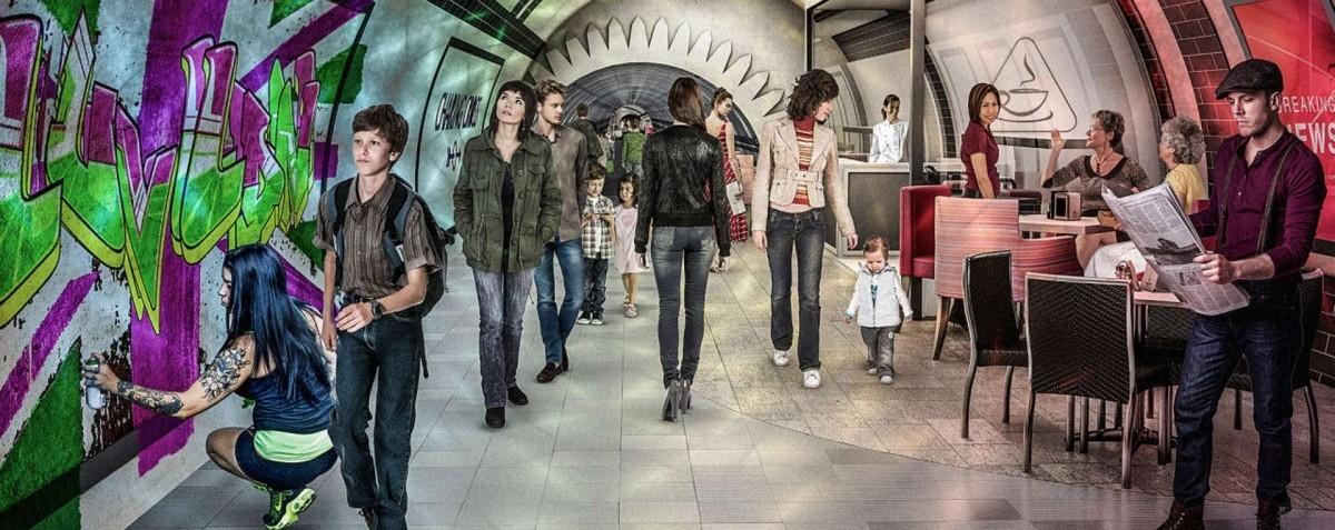 Londyńskie metro dla pieszych i cyklistów