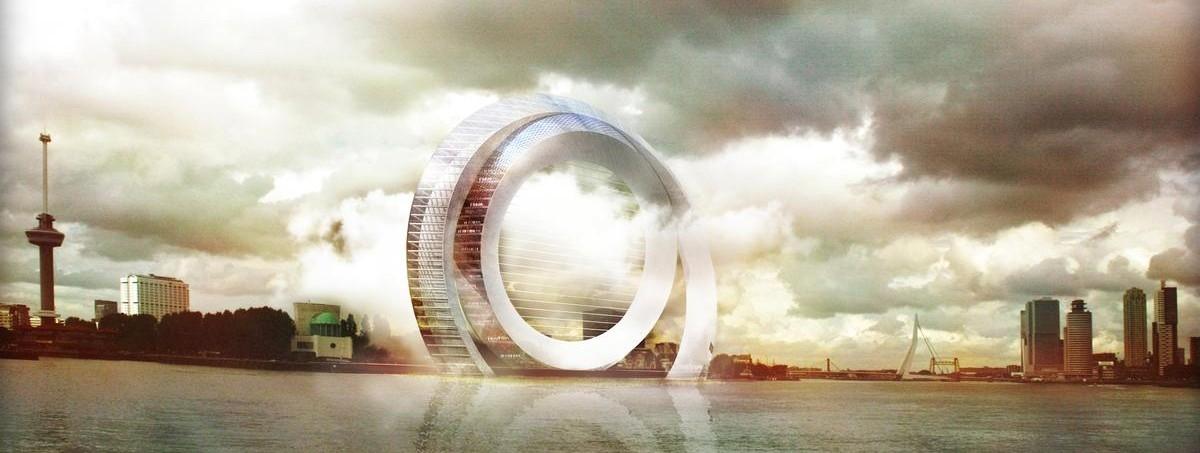 Projekt nie z tej ziemi: wielkie, ekologiczne obręcze u wrót Rotterdamu
