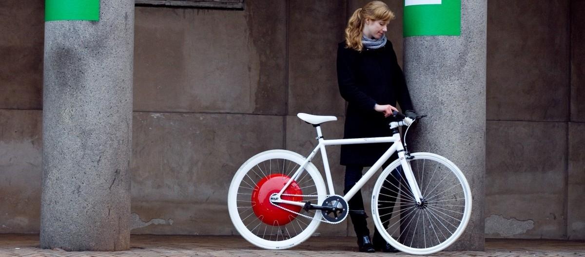Cztery elektryczne koła do roweru