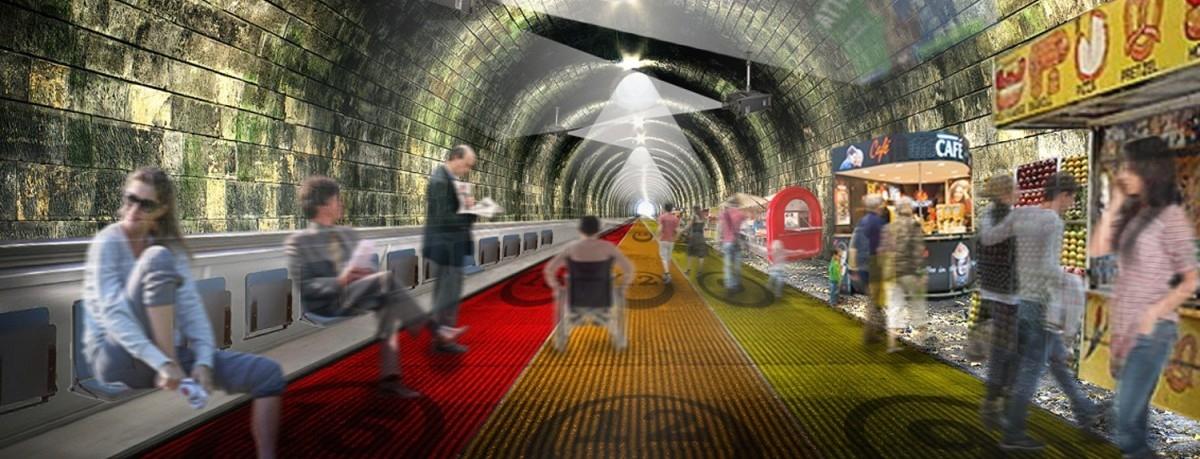 W Londynie chcą zmienić metro na ruchomy chodnik