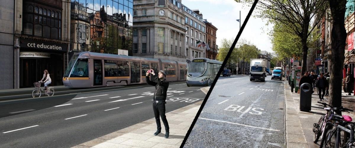 W Dublinie tramwaje i deptaki zamiast samochodów