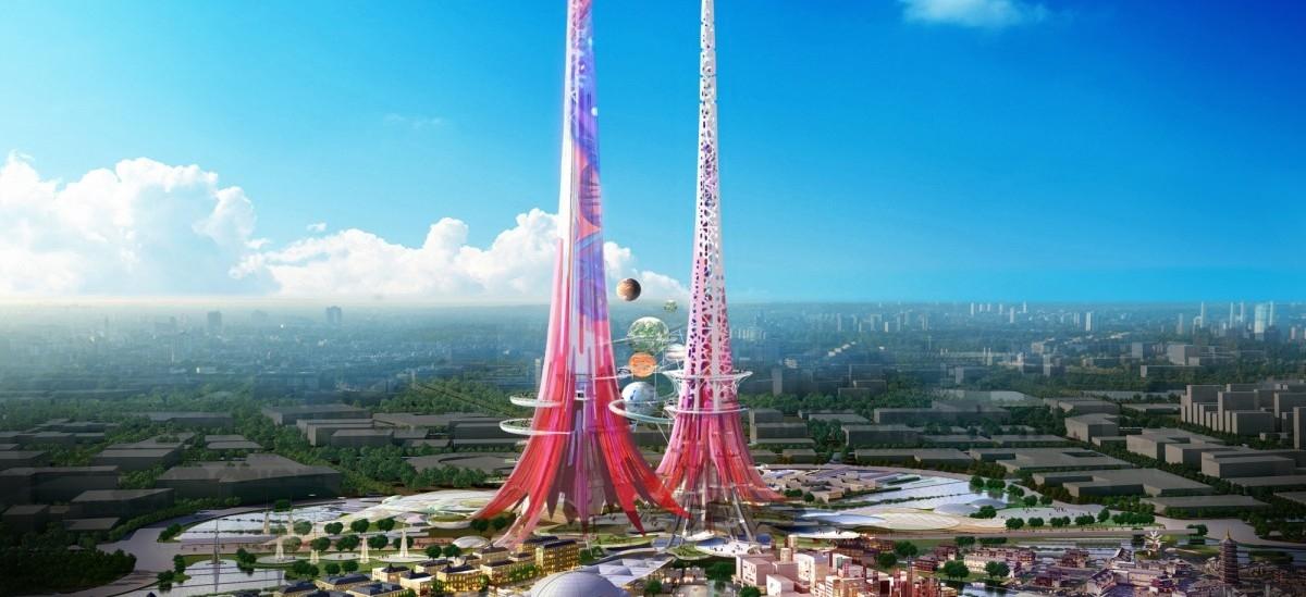 Chińczycy wznoszą ekologiczną superwieżę Feniksa