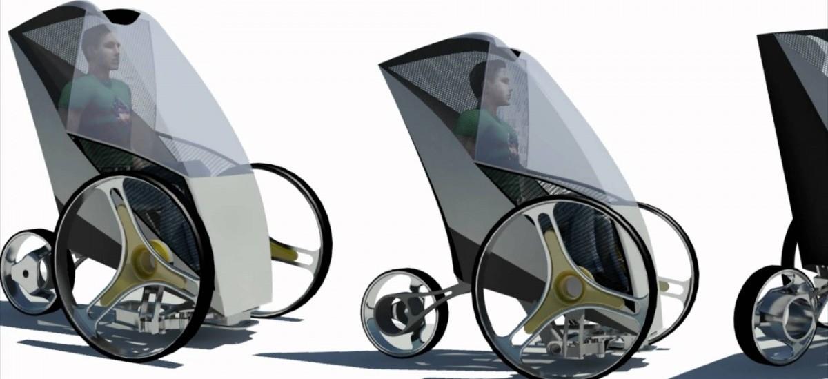 Przyszłość transportu: autonomiczny trójkołowiec na baterie