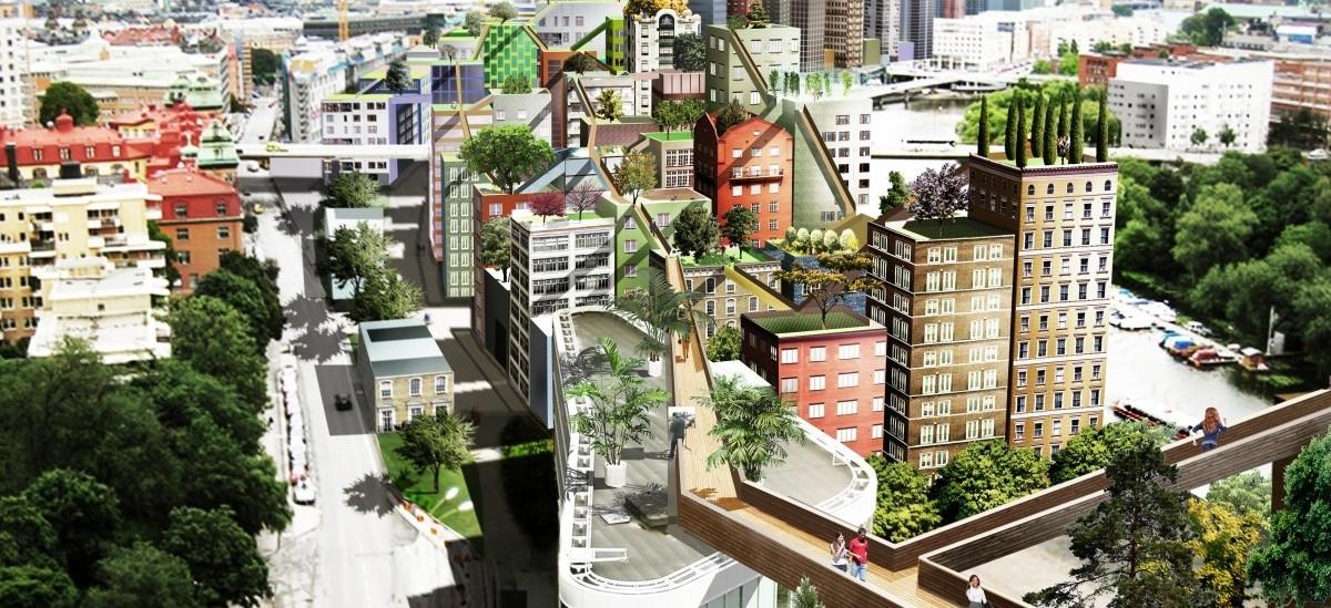 Sztokholm chce wynieść się na dach