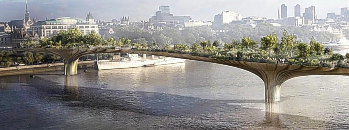 Most-ogród przetnie Tamizę