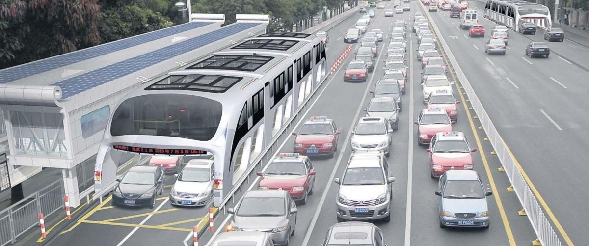 Pociągi pojadą ponad ulicami chińskich miast