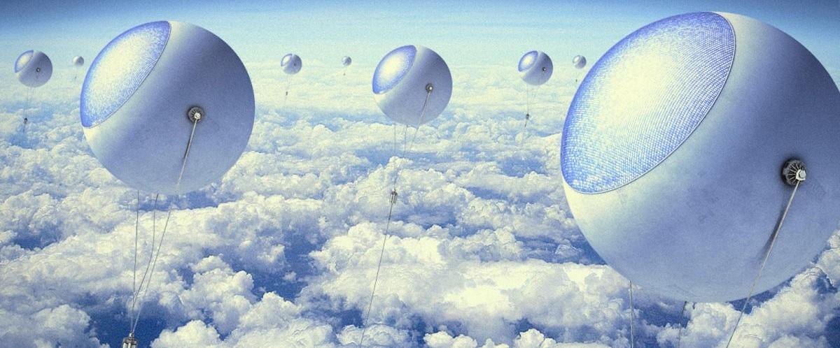 Elektrownie wiszą ponad chmurami