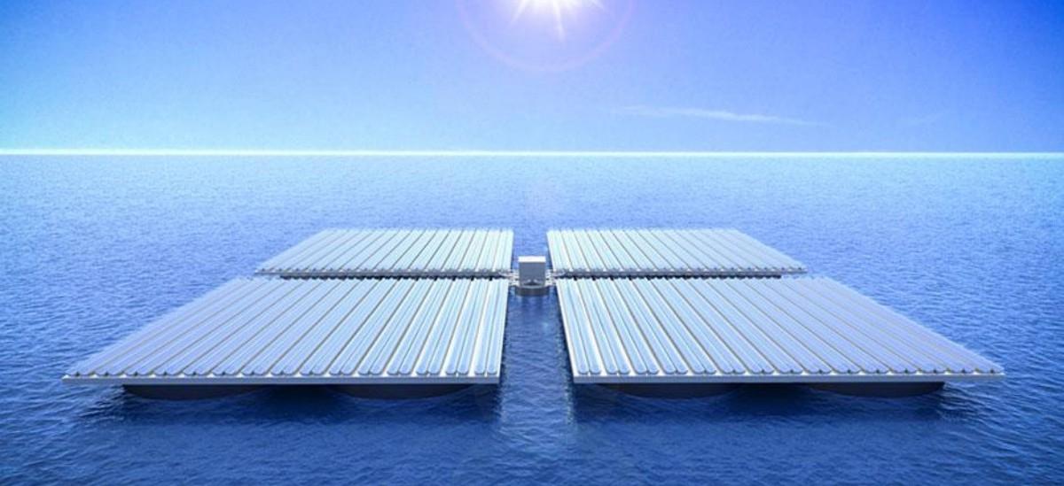 Farmy słoneczne będą pływać po morzu