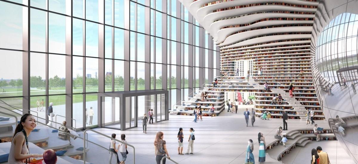Biblioteka jak park, z książkami zamiast liści