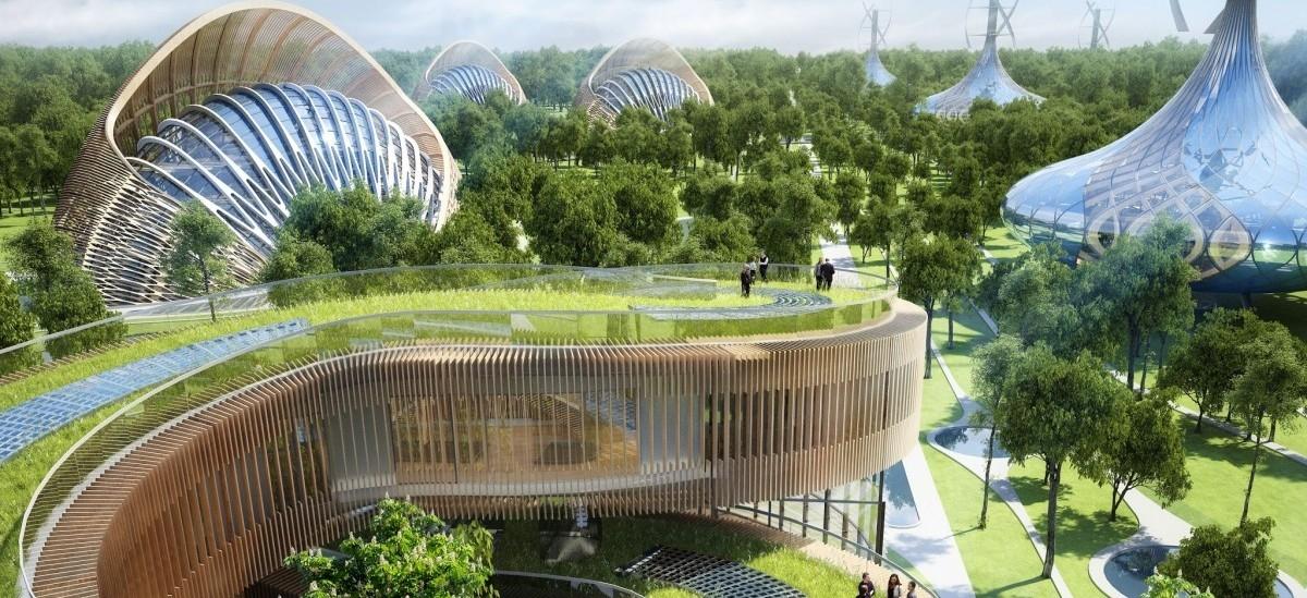 Osiedle zielonych domów przyszłości