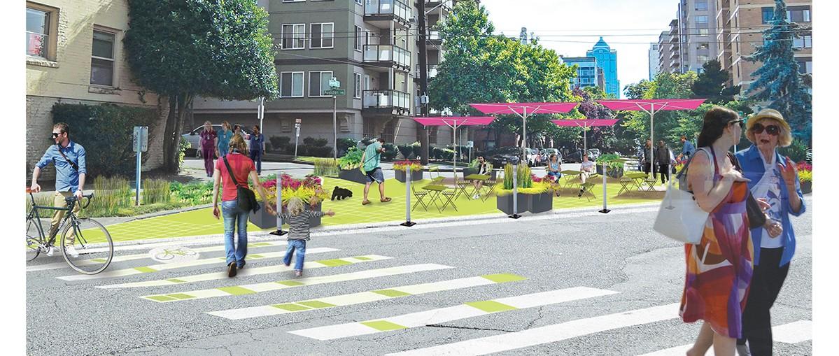 W Seattle puste ulice przejmują mieszkańcy