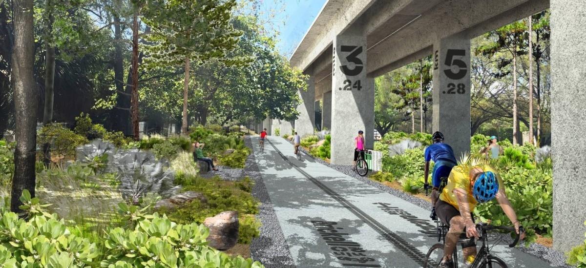 W Miami pod wiaduktem kolejki miejskiej powstanie długi na 10 mil park z trasą rowerową