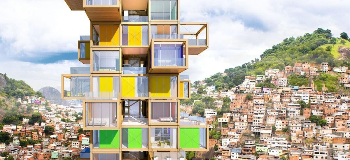 Dom w stylu Jenga dla niezamożnych mieszkańców