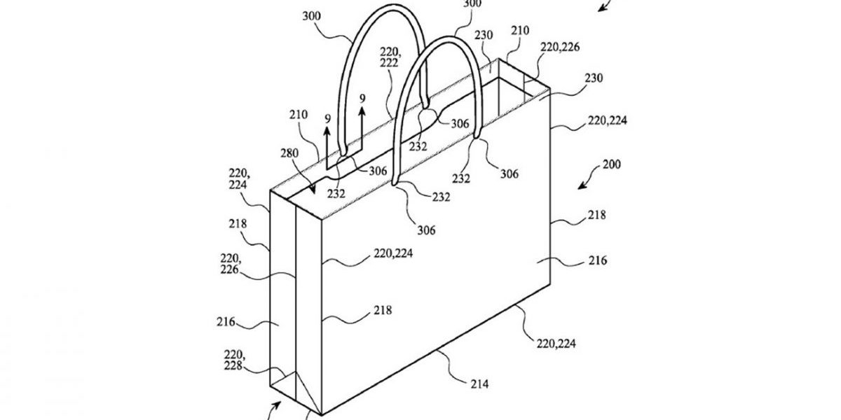 Apple poszedł w recyclingowe torby. Tak jak wszystko, opatentował również ich konstrukcje