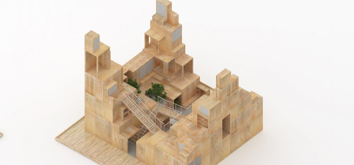 Drewniane domy z dużą przestrzenią wspólną