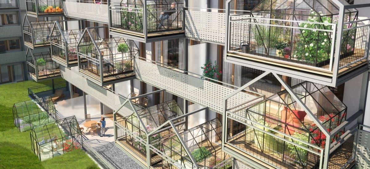 W Poznaniu rośnie dom ze szklarniami na balkonach