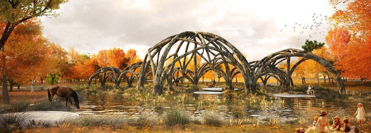 Neoromantyczny park jako odtrutka na zgiełk cywilizacji