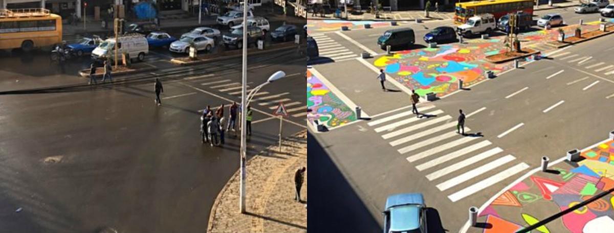 Jeśli ulica jest za szeroka, wystarczy ją zamalować