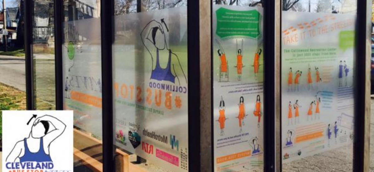 Pomysł na przystanek autobusowy: po co czekać, lepiej ćwiczyć