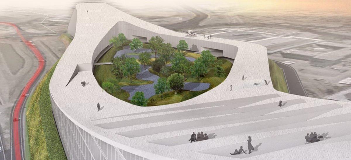 Budynek przyszłości do pracy i mieszkania: z własnym parkiem i  jeziorem