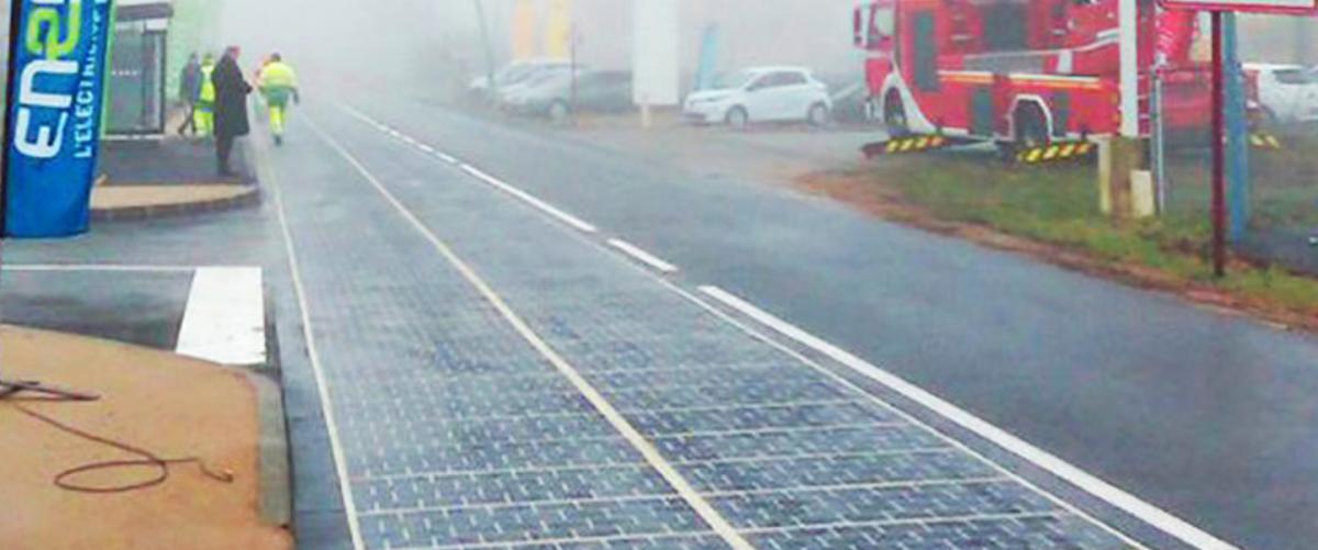 Francuzi ułożyli pierwszy kilometr solarnej drogi