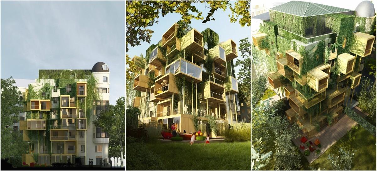 Kamienica obłożona drewnianymi klockami zrobi się ekologiczna