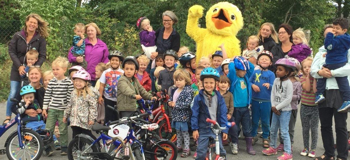 Odense, miejsce gdzie dzieci do przedszkola jeżdżą na rowerze