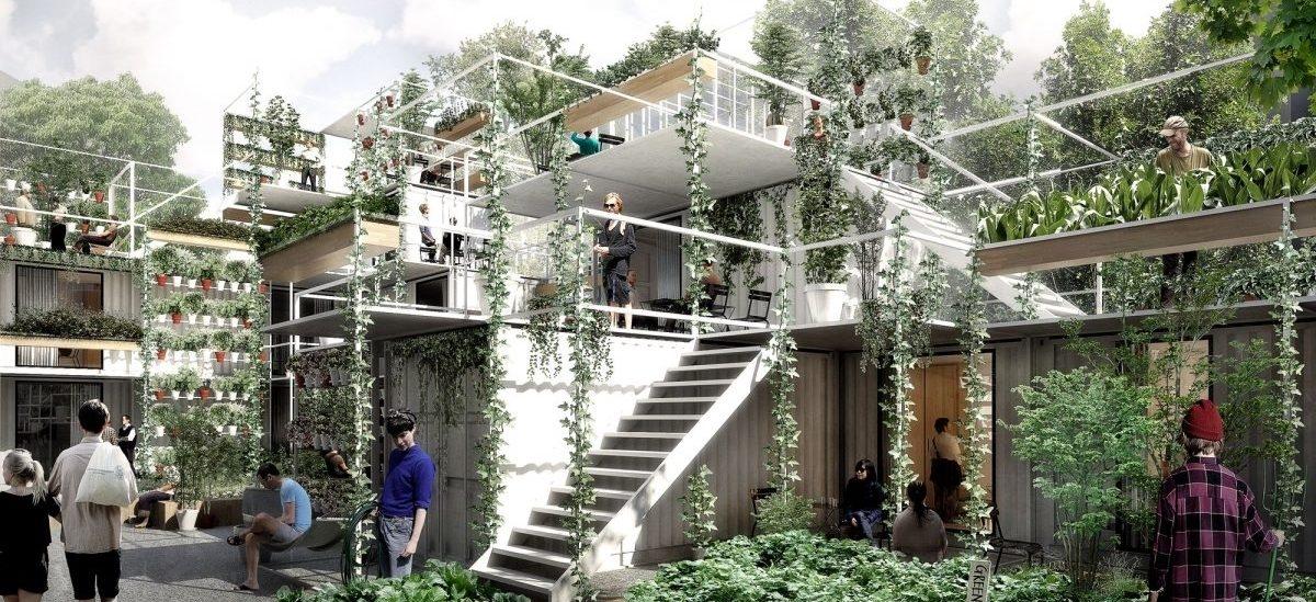 Dom-ogród, w którym bezdomni będą mogli stanąć na nogi i zintegrować się z lokalną społecznością