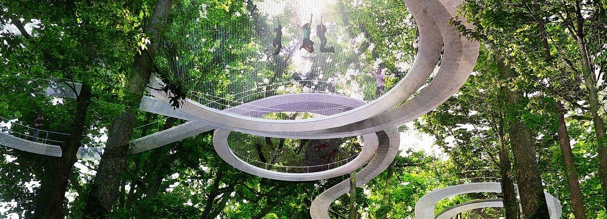 Park, gdzie można poskakać w koronach drzew
