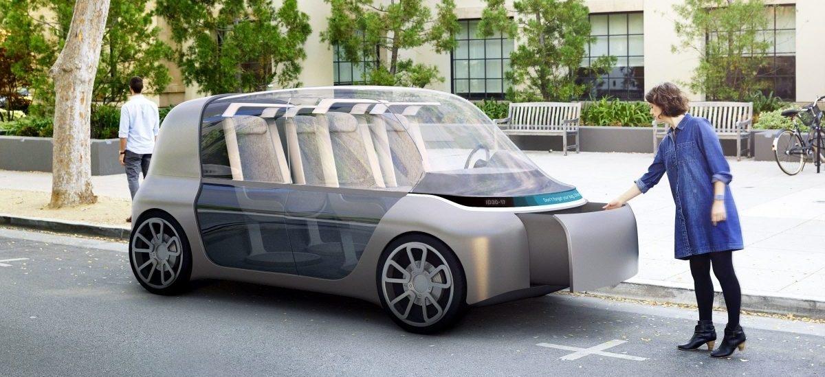 Miejski samochód przyszłości do wspólnej jazdy