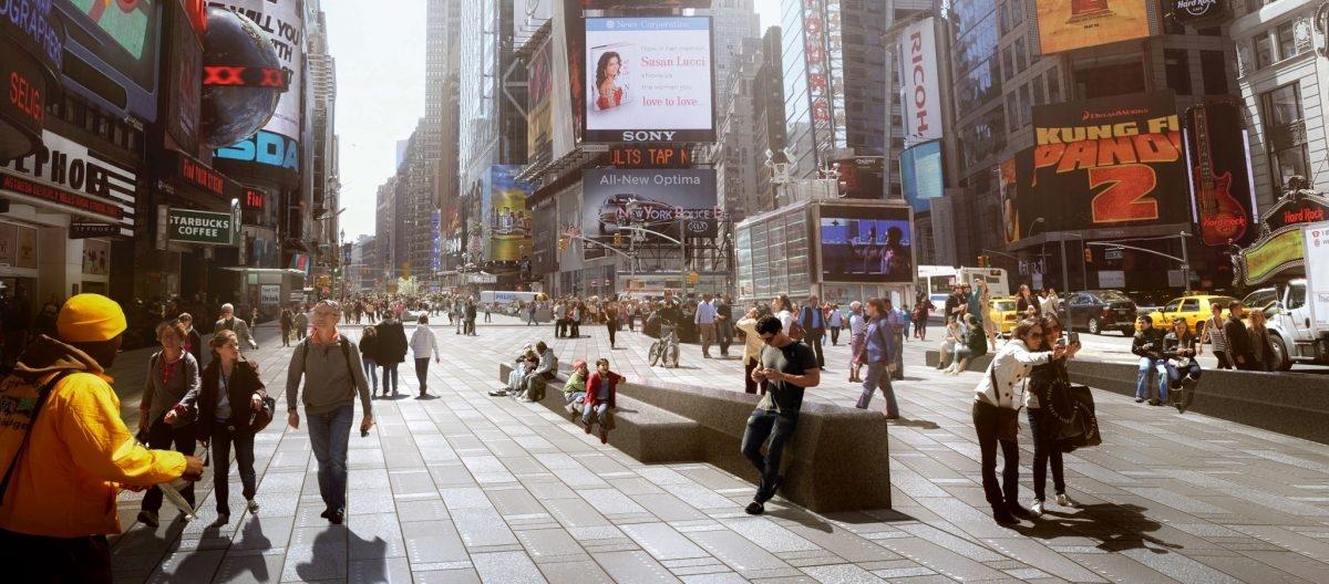 Times Square i Brodway przejęli piesi