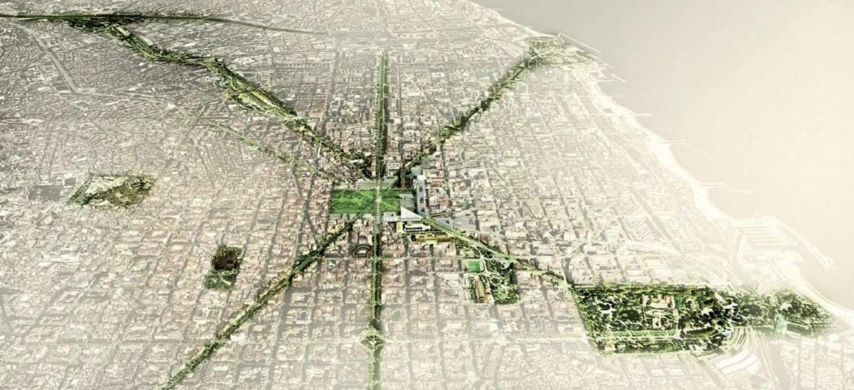 Barcelonę oplecie sieć zieleni