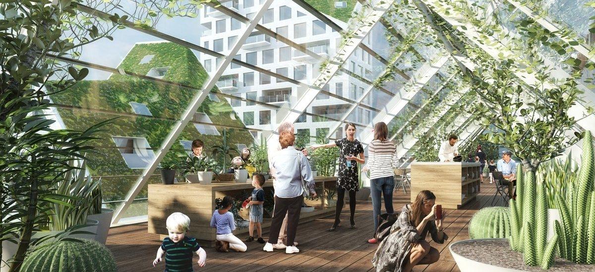 Wypełniony światłem standard budownictwa mieszkaniowego z Eindhoven