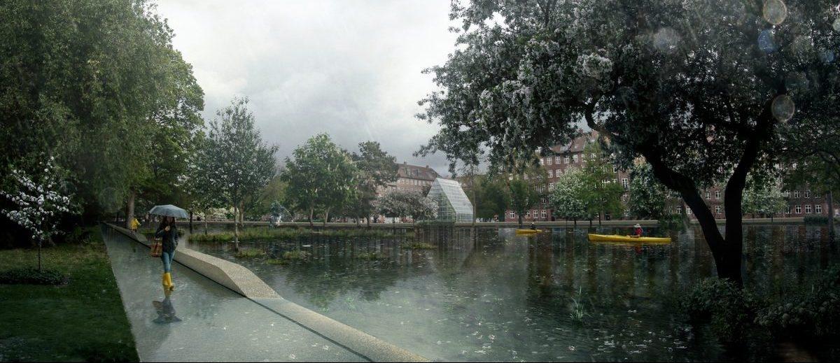 Stawy w parku i 16 miejskich placów – pomysł na system przeciwpowodziowy w Kopenhadze