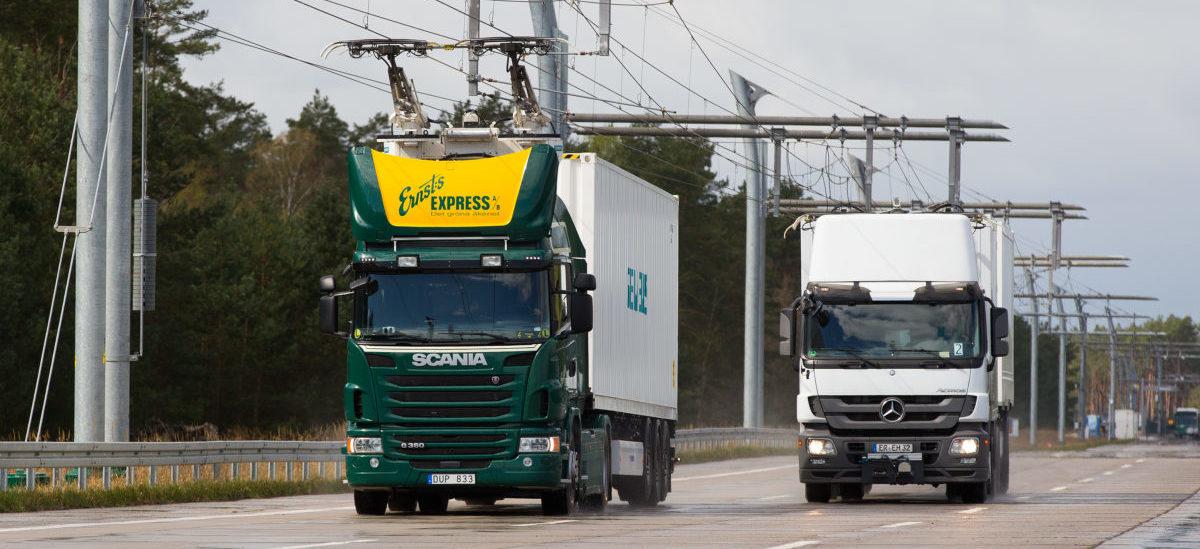 Na zelektryfikowanych autostradach ciężarówki zaoszczędzą połowę kosztów paliwa