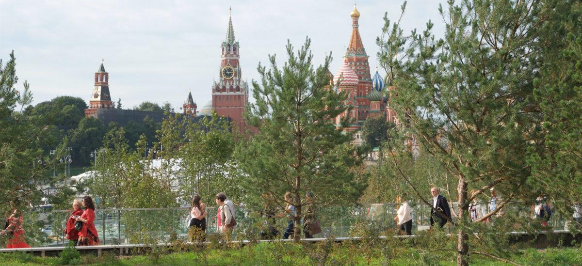 Obok  Kremla, po sąsiedzku, powstał park