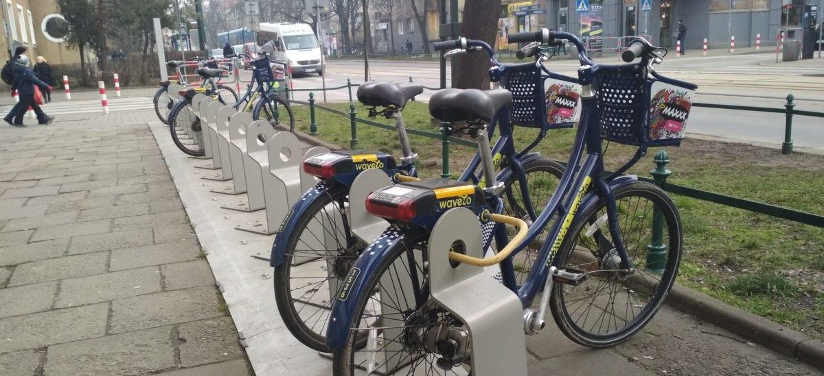 W Krakowie miejskie rowery jeżdżą także zimą