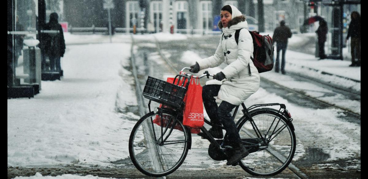 Na rowerze można jeździć nawet zimą