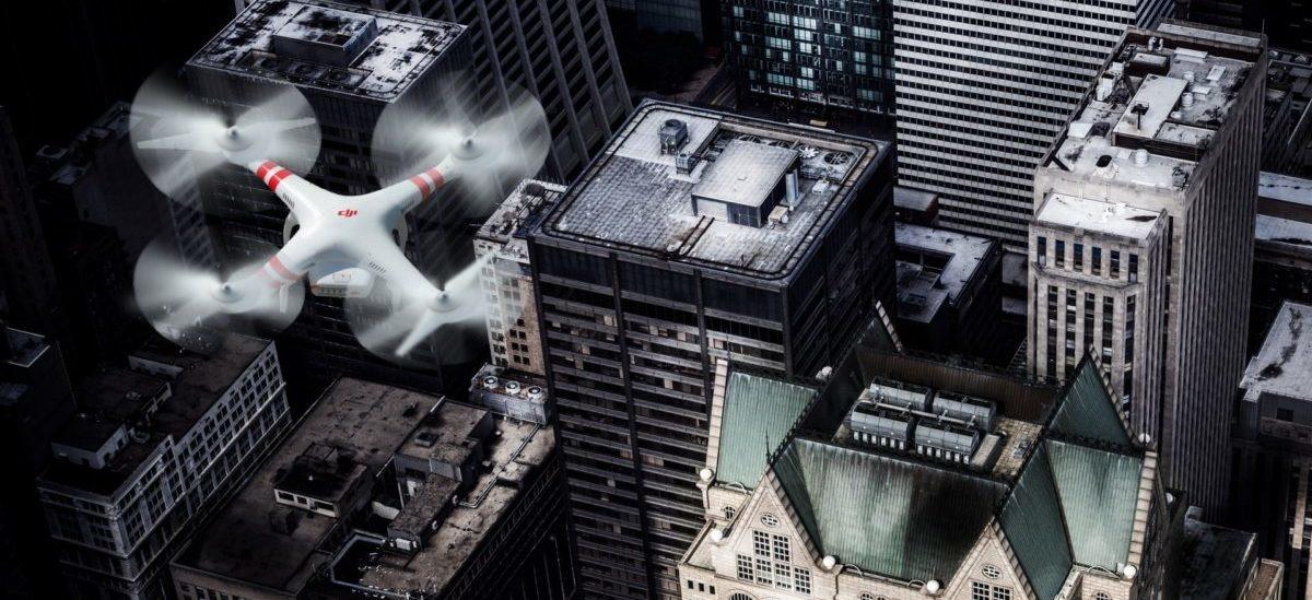 Dron do odkurzania powietrza ze smogu
