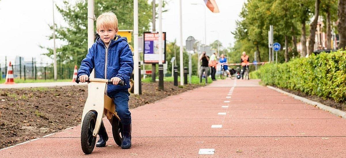 Droga rowerowa z odzyskanego plastiku