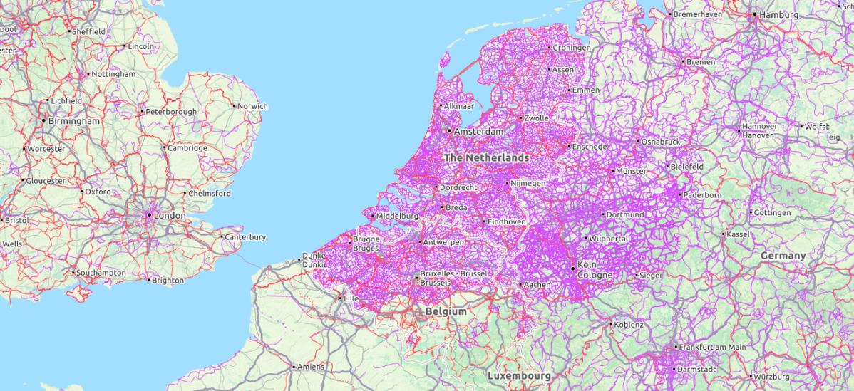 Jeden obrazek tłumaczący dlaczego Holandia jest tak rowerowa