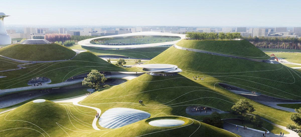 Kosmiczny kampus sportowy w Chinach