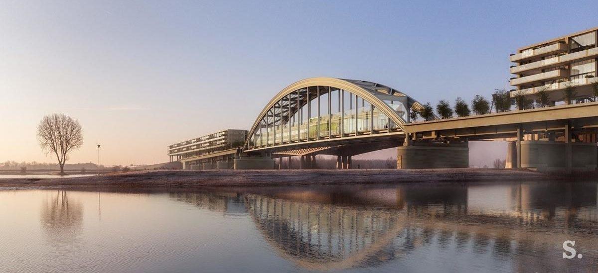 Centrum mieszkaniowo-konferencyjne na moście