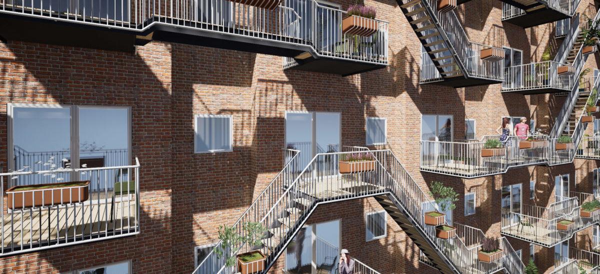 Połączone balkony dla zacieśniania sąsiedzkich więzi