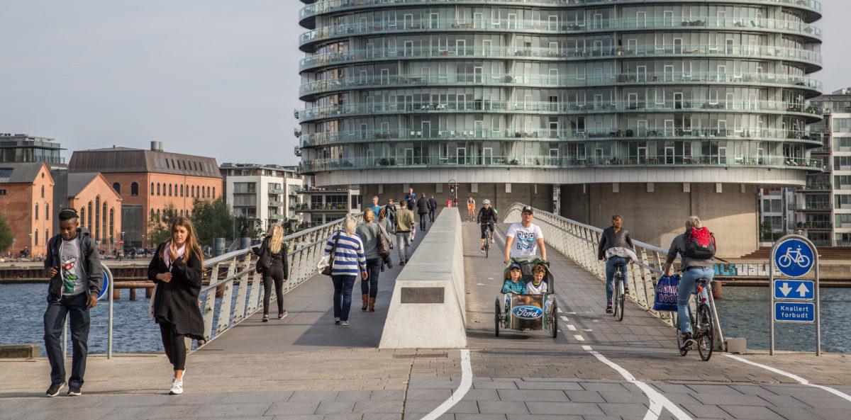 W cztery lata Kopenhaga zbudowała osiem mostów dla rowerów