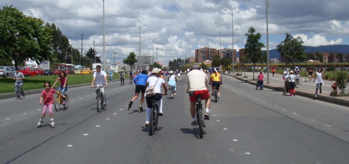Bogota raz w tygodniu zostaje opanowana przez rowerzystów