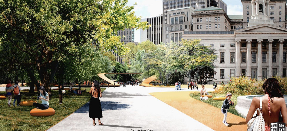 W centrum Brooklynu samochody ustąpią miejsca pieszym i drzewom