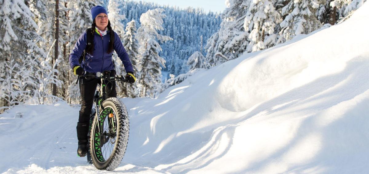 W Skandynawii nawet zima nie powstrzymuje rowerzystów